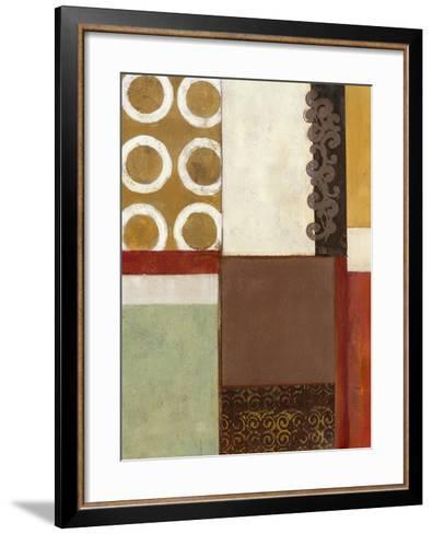 Spa Circles I-W^ Green-Aldridge-Framed Art Print