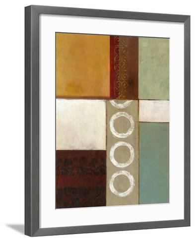 Spa Circles II-W^ Green-Aldridge-Framed Art Print