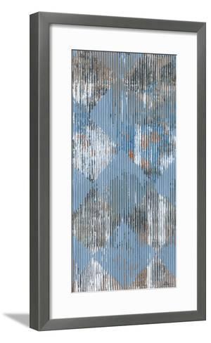 Harlequin Blue I-Dlynn Roll-Framed Art Print