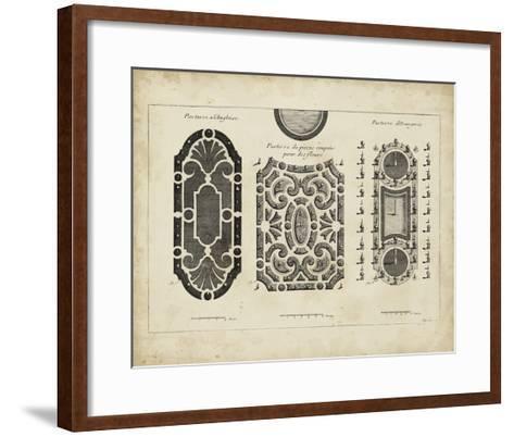 Garden Parterre II-DeZallier d' Argenville-Framed Art Print