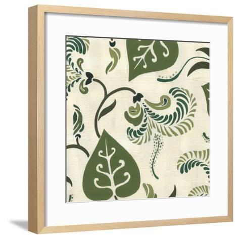 Verdant Fresco I-Erica J^ Vess-Framed Art Print