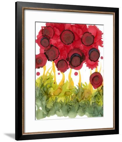 Poppy Whimsy VI-Cheryl Baynes-Framed Art Print