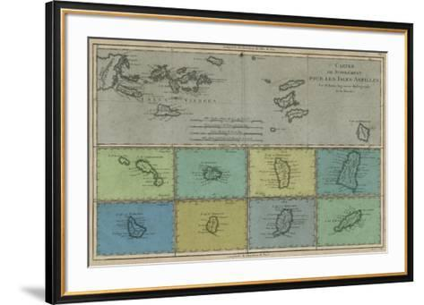 Map of the Greater & Lesser Antilles-Vision Studio-Framed Art Print