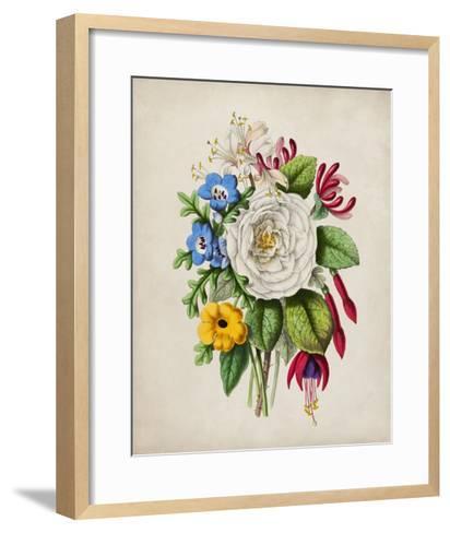 Spring Posy III-Winslow Peachy-Framed Art Print