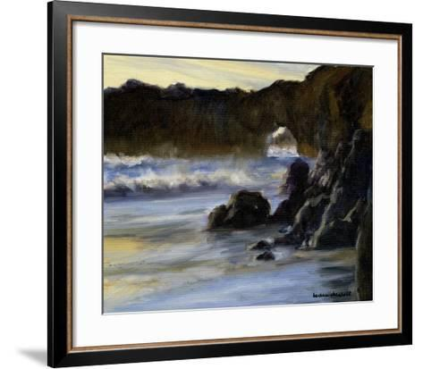 Sunset on Santa Cruz-Barbara Chenault-Framed Art Print