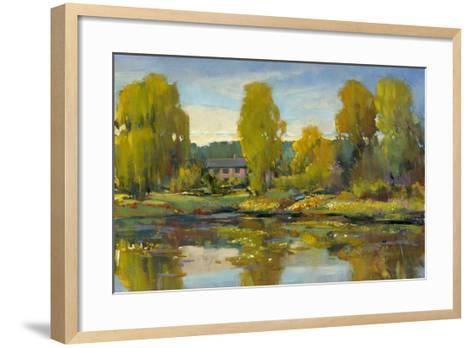 Monet's Water Lily Pond II-Tim O'toole-Framed Art Print