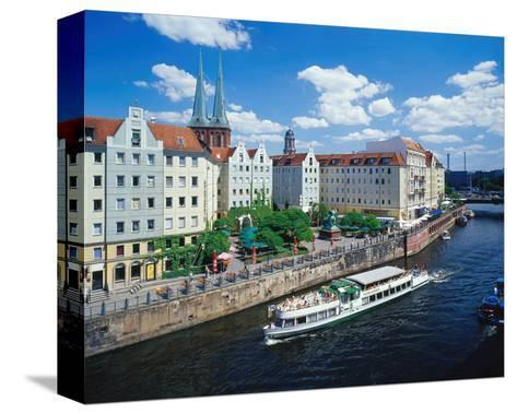 River Nikolai Church Berlin--Stretched Canvas Print