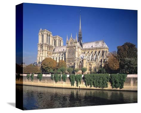 Seine River Notre Dame, Paris--Stretched Canvas Print