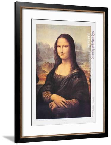 L.H.O.O.Q. (Mona Lisa)-Marcel Duchamp-Framed Art Print