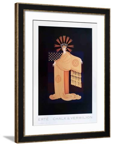 Tassel Gown-Erte-Framed Art Print