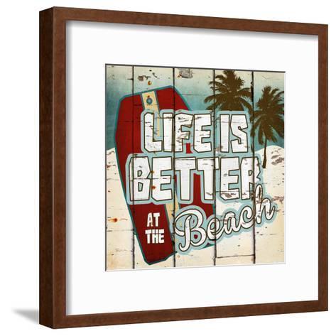 Life is Better at the Beach-Katrina Craven-Framed Art Print