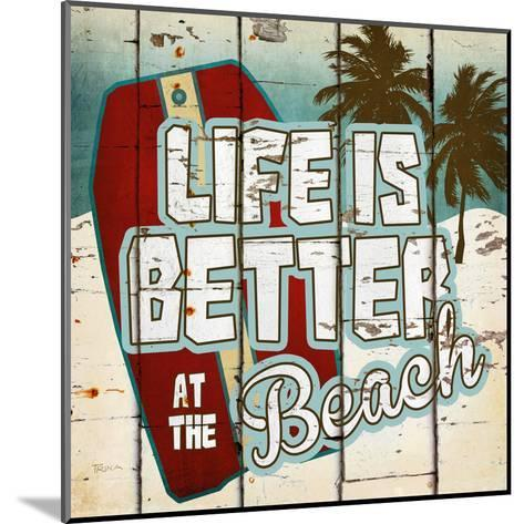 Life is Better at the Beach-Katrina Craven-Mounted Art Print