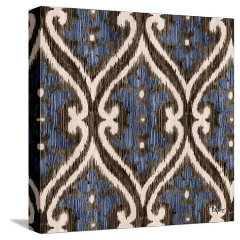 Indigo Ikat IV-Paul Brent-Stretched Canvas Print