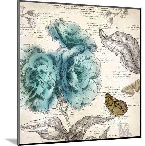 Blooming Teal II - Mini-Aimee Wilson-Mounted Art Print
