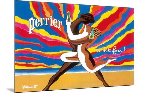 Perrier - The Dancing Couple (Le Couple Dansant) - This is Crazy! (C'est Fou!)-Bernard Villemot-Mounted Giclee Print