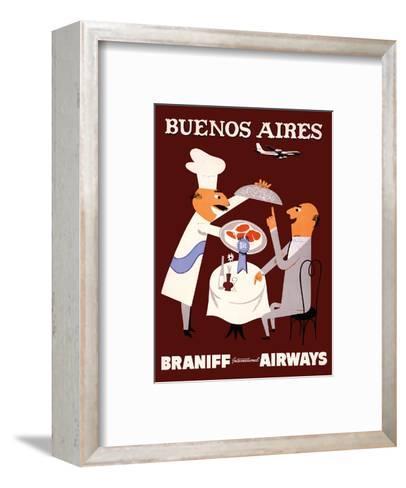 Buenos Aires - Braniff International Airways--Framed Art Print