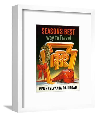 Season's Best Way to Travel - Pennsylvania Railroad--Framed Art Print