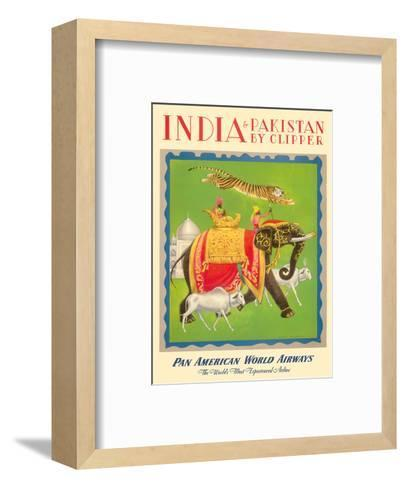 India and Pakistan by Clipper - Pan American World Airways--Framed Art Print