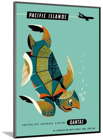 Pacific Islands - Qantas Airways - Green Sea Turtle-Harry Rogers-Mounted Art Print