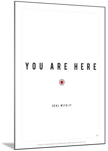 You Are Here-Antoine Tesquier Tedeschi-Mounted Art Print