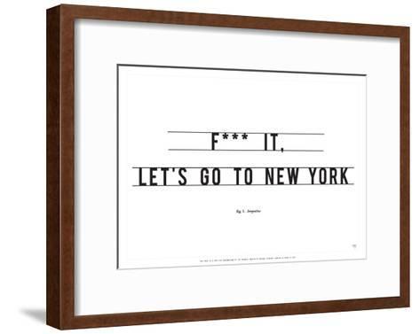 Let's Go to New York-Antoine Tesquier Tedeschi-Framed Art Print