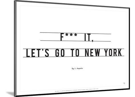 Let's Go to New York-Antoine Tesquier Tedeschi-Mounted Art Print