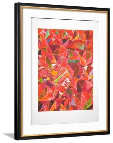 Bocca Baciata (rot)-Alexander Tovborg-Framed Art Print