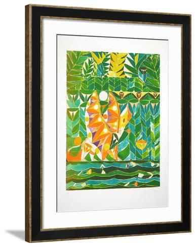 Bocca Baciata (grün)-Alexander Tovborg-Framed Art Print