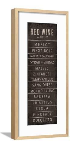 Wine Varieties I-The Vintage Collection-Framed Art Print
