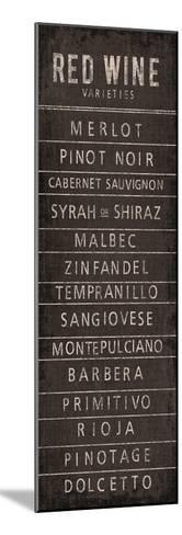 Wine Varieties I-The Vintage Collection-Mounted Art Print
