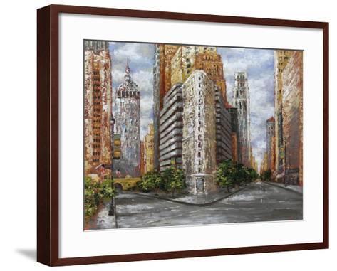 Golden High Rise-Bridges-Framed Art Print