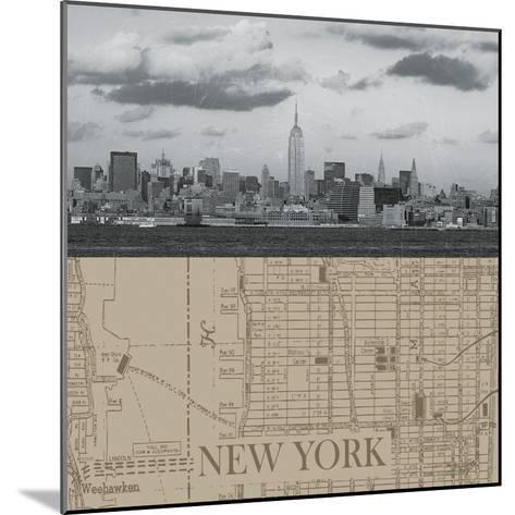 NYC Map II-The Vintage Collection-Mounted Giclee Print