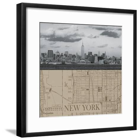 NYC Map II-The Vintage Collection-Framed Art Print