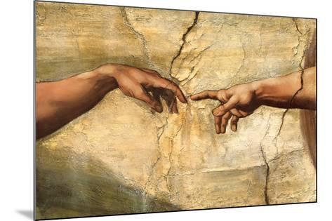 Creation of Adam, c.1510-Michelangelo Buonarroti-Mounted Preframe Component - Art