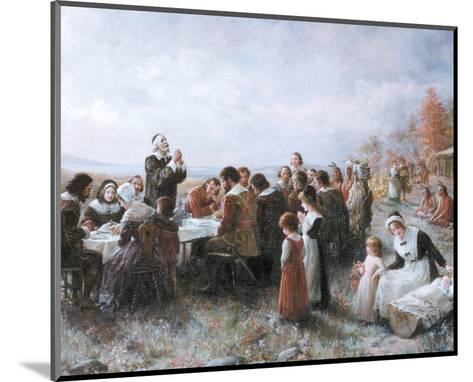 The First Thanksgiving-Jean Leon Gerome Ferris-Mounted Preframe Component - Art
