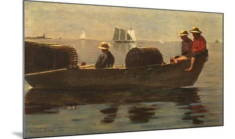 Three Boys in a Dory-Winslow Homer-Mounted Preframe Component - Art