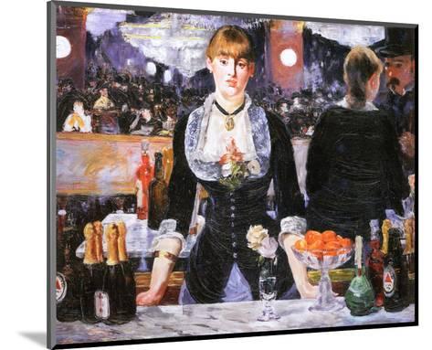 Bar at the Folies-Bergere, c.1882-Edouard Manet-Mounted Preframe Component - Art
