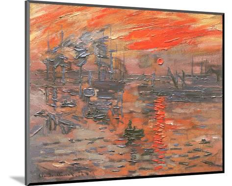 Impression, Sunrise-Claude Monet-Mounted Preframe Component - Art