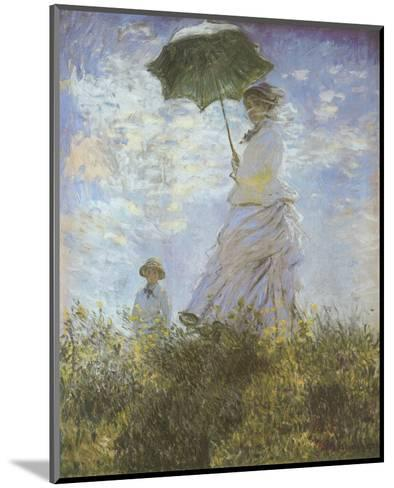 Woman with Parasol and Child-Claude Monet-Mounted Preframe Component - Art