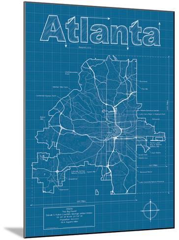 Atlanta Artistic Blueprint Map-Christopher Estes-Mounted Art Print