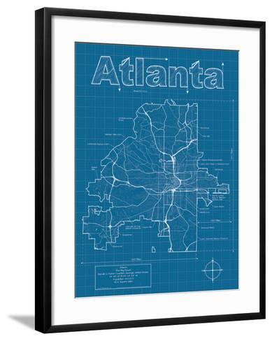 Atlanta Artistic Blueprint Map-Christopher Estes-Framed Art Print