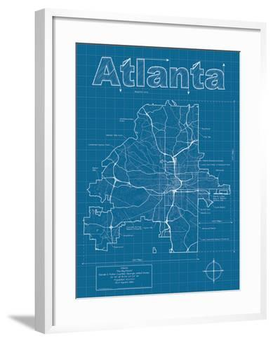 Atlanta artistic blueprint map art print by christopher estes the atlanta artistic blueprint map christopher estes framed art print malvernweather Image collections