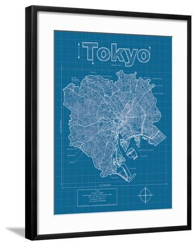 Tokyo artistic blueprint map art print by christopher estes art tokyo artistic blueprint map christopher estes framed art print malvernweather Images