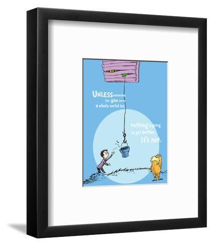 Unless Someone Cares (blue)-Theodor (Dr. Seuss) Geisel-Framed Art Print