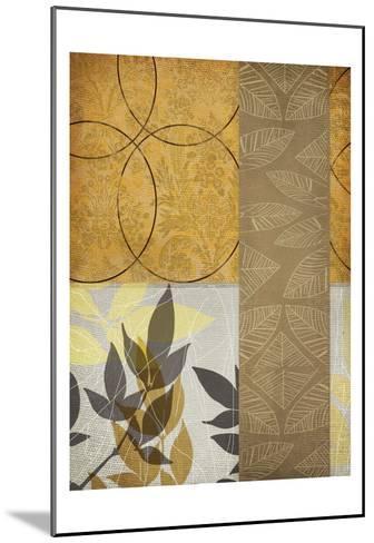 Yellow Leaf-Cynthia Alvarez-Mounted Art Print