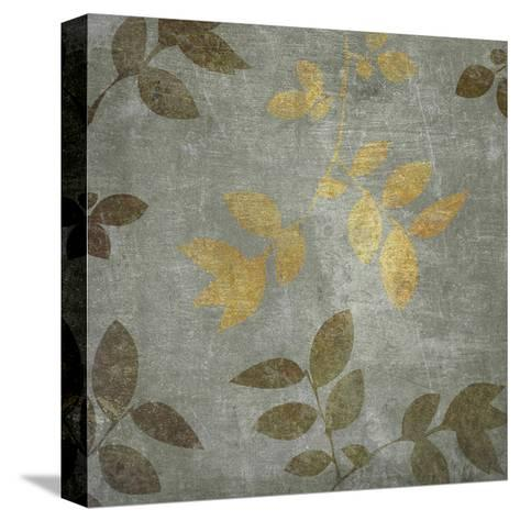 Gold Brown Leaves-Kristin Emery-Stretched Canvas Print