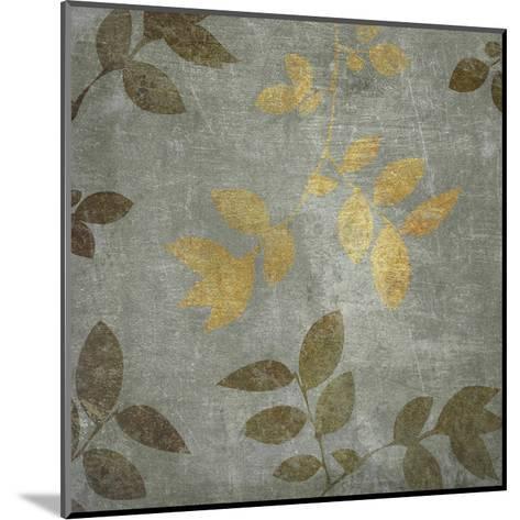 Gold Brown Leaves-Kristin Emery-Mounted Art Print