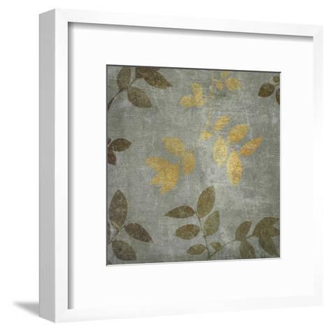Gold Brown Leaves-Kristin Emery-Framed Art Print