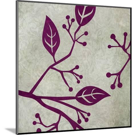 Birds & Leaves 1-Kristin Emery-Mounted Art Print