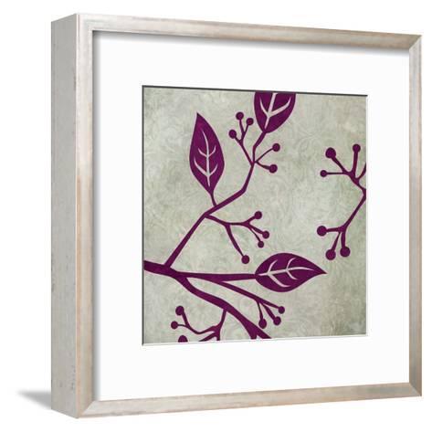 Birds & Leaves 1-Kristin Emery-Framed Art Print